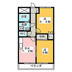 メゾンストーク[3階]の間取り
