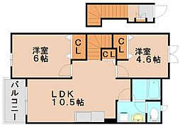 Lウィンズ[2階]の間取り