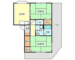 兵庫県神戸市垂水区狩口台7丁目の賃貸アパートの間取り