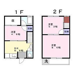 [テラスハウス] 兵庫県姫路市豊富町甲丘4丁目 の賃貸【/】の間取り