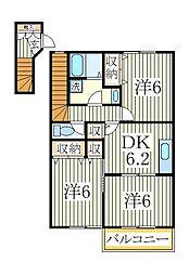 クレストM壱番館[2階]の間取り