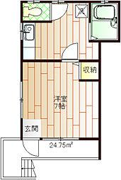 関コーポ2[A-201号室]の間取り