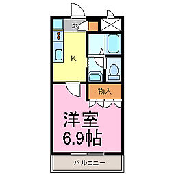 ComodoMihama[202号室]の間取り