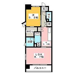 グランシャリオ千種[5階]の間取り