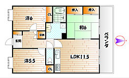 VIENTO NAKAI[2階]の間取り
