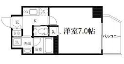 ファーストステージ京町堀レジデンス 7階1Kの間取り
