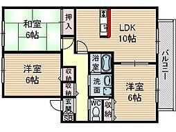 フォーチュン2[1階]の間取り