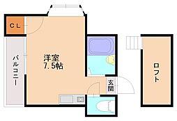 イッセイ井尻駅前[2階]の間取り