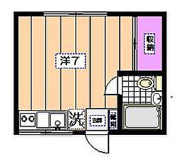 寿ハウス[201号室]の間取り