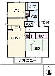 フォレストタウンD棟[1階]の間取り