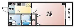インパレス天王寺[5階]の間取り