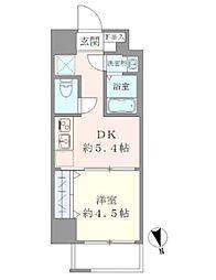 東京メトロ千代田線 湯島駅 徒歩6分の賃貸マンション 2階1DKの間取り
