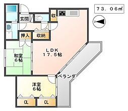 アミング潮江15-3号棟[4階]の間取り