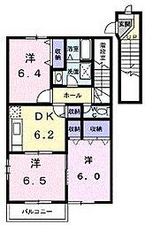 香川県綾歌郡宇多津町浜九番丁の賃貸アパートの間取り