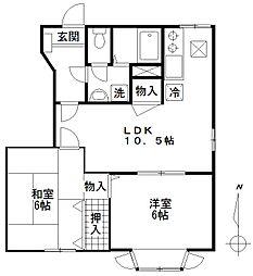 メゾン・ド・ファミーユII[1階]の間取り