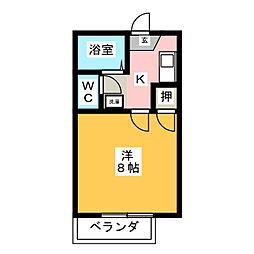 ハイツ岡本I[2階]の間取り
