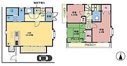 [一戸建] 東京都西東京市北町2丁目 の賃貸【/】の間取り