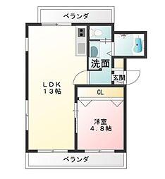東京都武蔵野市西久保2丁目の賃貸マンションの間取り