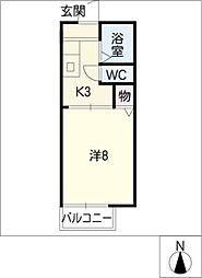 ドエルフォルテ[2階]の間取り