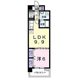 熊本市電A系統 健軍町駅 バス17分 安永下車 徒歩1分の賃貸マンション 1階1LDKの間取り