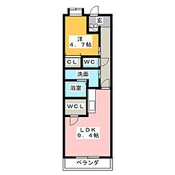 キャッスル常滑 東棟[5階]の間取り