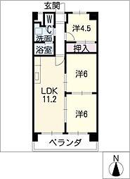 ノーサイドマンション[2階]の間取り