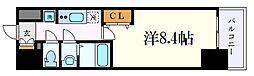 名古屋市営鶴舞線 浅間町駅 徒歩6分の賃貸マンション 7階1Kの間取り