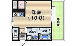 ハイツ広田 1階ワンルームの間取り