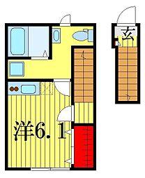 東京都葛飾区青戸6の賃貸アパートの間取り