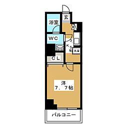 リベール西片 3階1Kの間取り