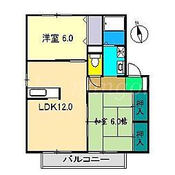 ラポール野本D棟[1階]の間取り
