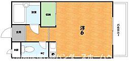 大阪府枚方市川原町の賃貸マンションの間取り