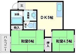 新大阪明章マンション[5階]の間取り