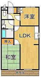 サテライト武庫之荘1[2階]の間取り