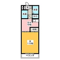 ガーデンプレイスヴィラ A・B[2階]の間取り