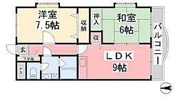 TMスクウェア[2階]の間取り