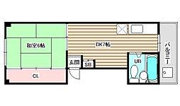 川北マンション[3階]の間取り