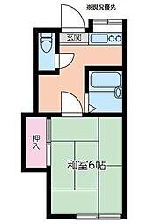 ハイツ大倉山[202号室]の間取り