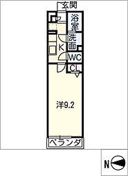 リブリ・砂田橋[3階]の間取り
