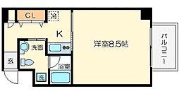 アパートメント京橋[4階]の間取り