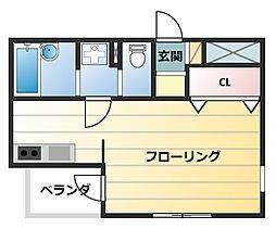 東京都江戸川区松江3丁目の賃貸マンションの間取り