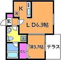 栄和レジデンスII[1階]の間取り