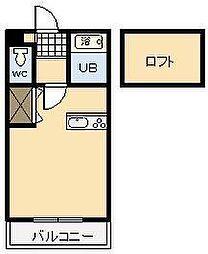 コンフォート熊野[203号室]の間取り