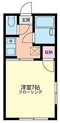 神奈川県横浜市神奈川区羽沢南4丁目の賃貸アパートの間取り