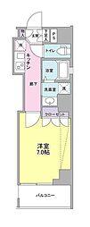 都営三田線 白金高輪駅 徒歩2分の賃貸マンション 4階1Kの間取り