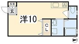 ハイツガルムII[203号室]の間取り