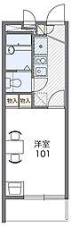 Osaka Metro谷町線 野江内代駅 徒歩9分の賃貸マンション 1階1Kの間取り
