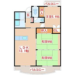 ROSE向井[4階]の間取り