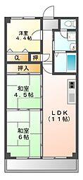 コーキマンション大治[3階]の間取り