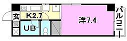 オクトワール松山土居田(東)[101 号室号室]の間取り